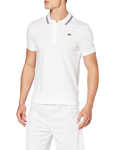Lacoste YH1482 Camisa de Polo, Blanco/Negro, 4XL para Hombre
