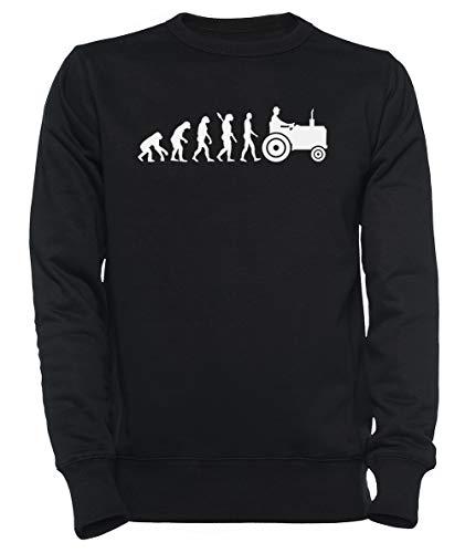 Evolutie Trekker Dames Mannen Unisex Sweatshirt Trui Zwart Women's Men's Unisex Sweatshirt Jumper Black