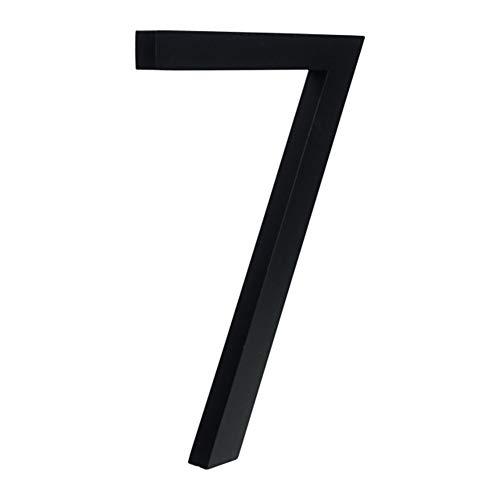 LBY Negro Grande Número Casa Flotante sesión 15cm números de Puerta Moderno Edificio Dirección Señalización Exterior de la Placa (Color : 7, Size : 15cm)