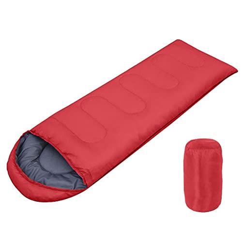 Saco de dormir de invierno para adultos y niños, saco de dormir compacto con saco de compresión ultraligero saco de dormir para camping, mochileros, senderismo