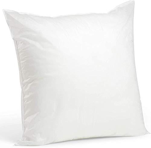 TOMOT Kissen, allergikergeeignet, 100% Polyester-Faserbällchen,390g, 40x40 cm, Weiß
