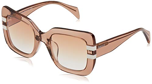BALLY Damen BY0005-D Sonnenbrille, Braun (Shiny Light Brown/Brown Mirror), 52