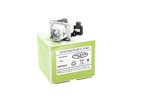 Alda PQ-Premium, Beamerlampe / Ersatzlampe kompatibel mit 311-8529, 725-10112 für Dell M209X, M210X, M409MX, M409WX, M409X, M410HD, M410X Projektoren, Lampe mit Gehäuse