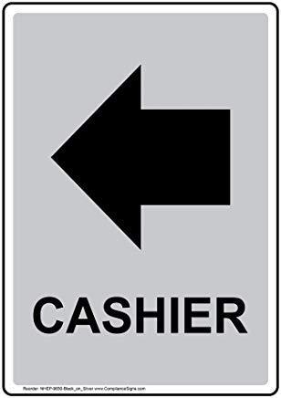 Vertikales Kassenschild, lustiges Wanring Schild, Torschild, Hence Yard Schild, 20,3 x 30,5 cm mit englischem Text und Symbol, schwarz auf silber
