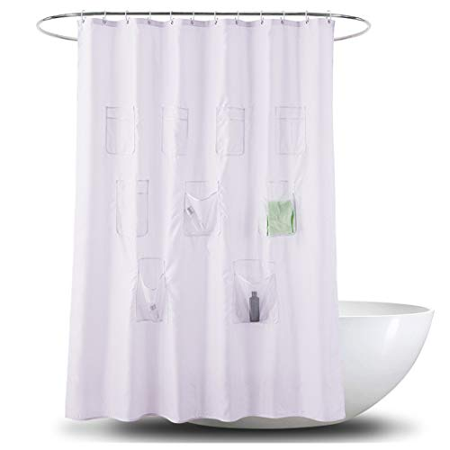 Le rideau de douche transparent avec poches Shane & Shaina