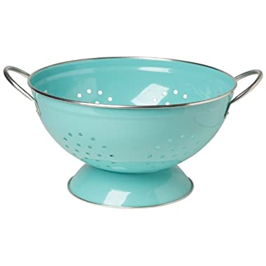 Now Designs Metal Colander, 3-Quart, Turquoise