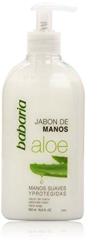 Babaria Aloe Vera Jabón Líquido Manos, Blanco, Fresh, 500 Mililitros