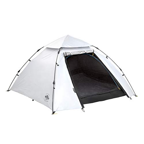 Lumaland Outdoor Cool Reflective Pop Up Tent 3 Person 215x195x120 cm - Waterproof Dome Tent stays cool and dark - portable, quick pitch, with carry bag - double taped seams, sewn-in Groundsheet
