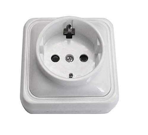 Bf bf-18 - Base enchufe schuko superficie 16a blanco bolsa