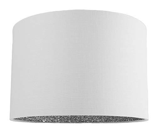 Tela moderna de lino blanco, lámpara de mesa/colgante de 12