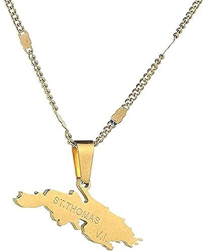 LKLFC Collar Colgante Collar Collares con Acero Inoxidable Charmeat Color Oro Tarjeta Cadena Regalo de joyería