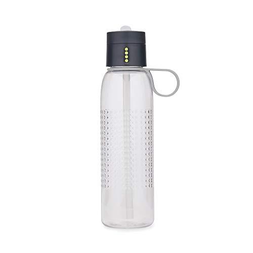 Joseph Joseph Dot Active - Trinkflasche mit Kontrollfunktion, 750 ml - Grau