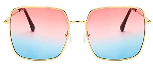 Gafas De Solnuevas Gafas De Sol Vintage con Montura Cuadrada paraMujer,Gafas De Sol DeGran Tamaño para Hombre, Gafas Negras Uv400, Azul, Rojo Y D