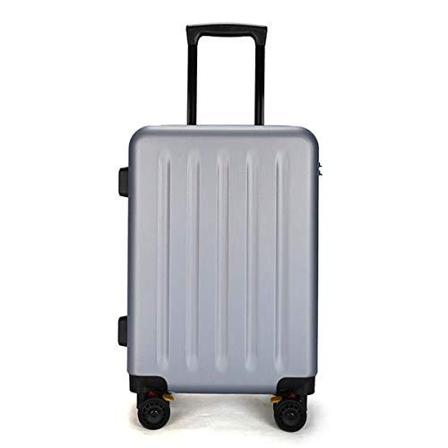 """XIANGSHAN PC Material Trolley Case Simple, Elegante Equipaje Esmerilado, Roller Walking Rolling Box, 20""""24"""" Pulgadas (Color : Red, Size : 20inch)"""