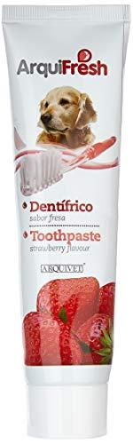 Arquivet Dentrífico para Perros - Sabor a Fresa - Pasta de Dientes para Perros - Higiene Dental para Perros - Previene la Placa y sarro - Crema Dental para Perros - 100 g