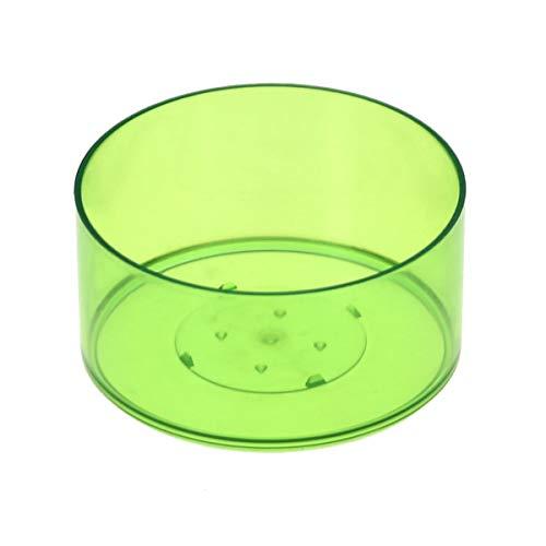 Plastique ronde Thé Lumière Pochettes 37 x 19 mm – Bougie Eau forme ronde classique, vert lime, Lot de 4