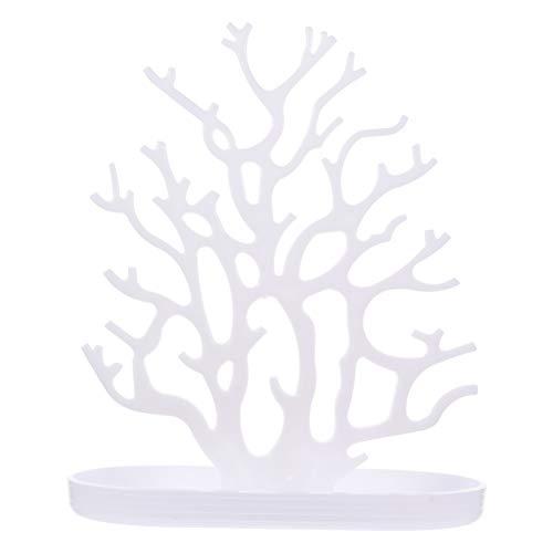 DOITOOL Gioielli Albero Organizzatore Corallo Gioielli Espositore Collana Orecchino Braccialetto Espositore Gioielli Espositore Torre Bianca