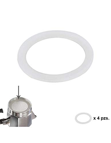 ORYX 5056104 Junta Goma Silicona Cafetera Aluminio Classic/Inducción 12 Tazas (4 Unidades)