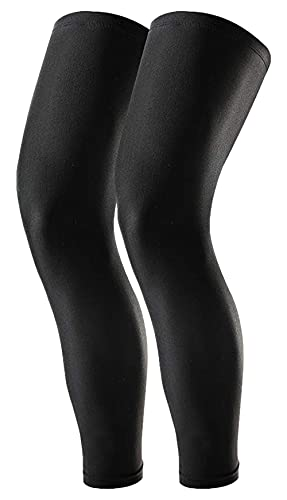 Compression Leg Sleeves - Full Leg Sleeves for Men, Women & Youth - Basketball & Football Leg Sleeves - UPF 50 UV Protection