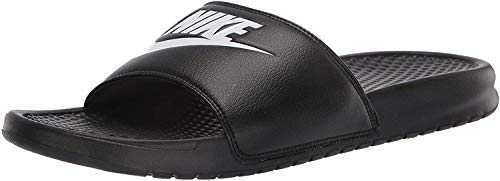 Nike Benassi JDI - Chanclas para hombre, color negro, blanco, 49,5 EU