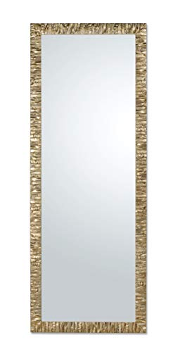 Espejo con Marco de Madera Moderno champán cm. 55x145 Verti
