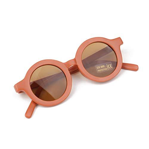 6Wcveuebuc Verano Polarizado UV Proteger Niños Gafas De Sol Retro Redondo Kid Gafas De Sol Polarizadas UV 400 Protección Niños Gafas De Sol