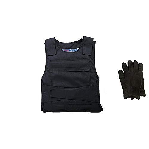 Wangkangyi Herren Stichschutzweste Unterziehweste Security Stichhemmende Weste Schlagschutzweste Tactical Unterziehweste Stichfeste/Körperpanzerung, Schützt Brust und Rücken (3.5kg)