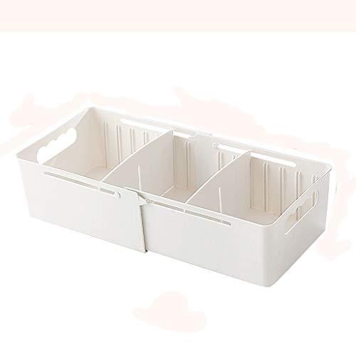 Tie Box Chambre Accueil Voyage Multi-Fonction rétractable Vêtements tiroir de Rangement Boîte de Finition Grande capacité de Stockage Portable Boîte (Color : White)
