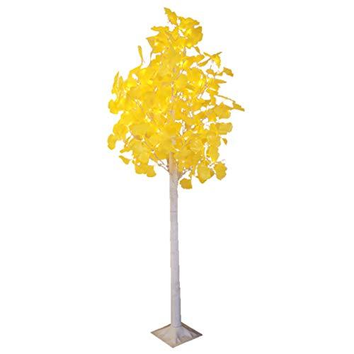 Golden Ginkgo Tree Glitter Twig Tree LED Chaud Paillettes Légères Direction 1.8ft Grand pour Noël Fête De Mariage