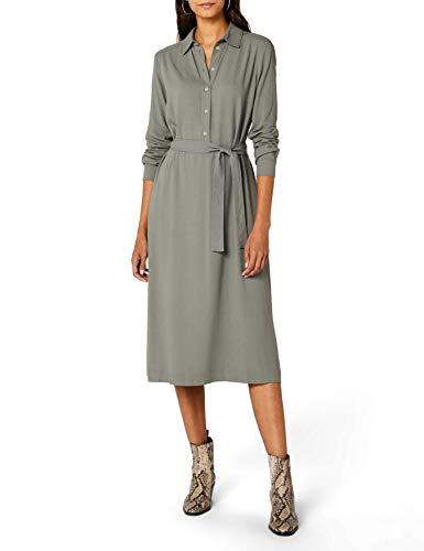 Marc O'Polo Damen Kleid  801113721203, Grün (Dusty Sage 414), 38