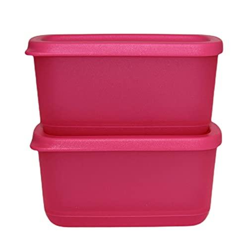 Tupperware Set 2X 250 ml Eisscholle Cubix Gefrier-Behälter Gefrierbehälter Brombeere dunkel pink