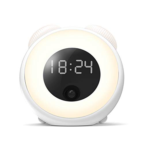 Skryo🛩🛩 Zeit Licht Smart LED Kreative Kontrolle Menschlicher Körper Induktion Smart Wecker