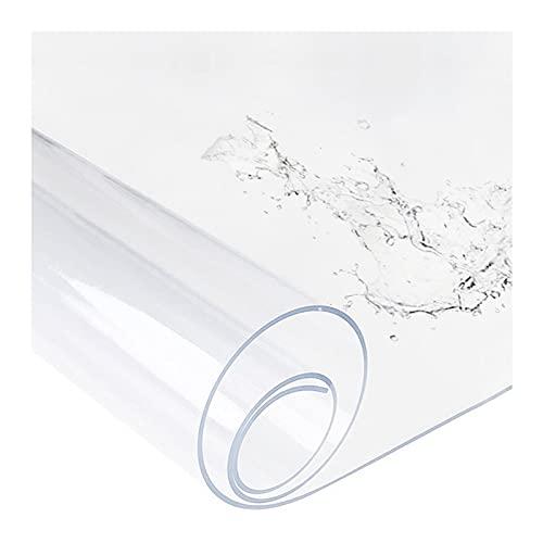 JXFS Mantel Transparente,Protector De Mesa,PVC Material,Soporte De PersonalizacióN,LaváVel para,Resistente Al Calor Resistente A La Abrasión,Ideal para Cocina SalóN Jardín(Color:1mm,Size: 25x2
