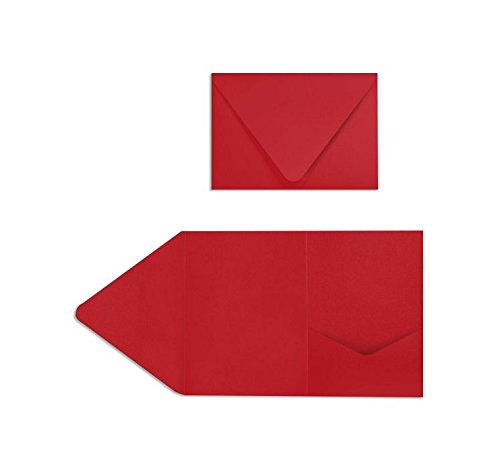 A7 Pocket Invitations (5 x 7) - Ruby Red (20 Qty.)