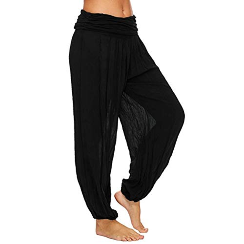 Lulupi Haremshose Damen Hosen Große Größen - Pumphose Frauen Plus Size Einfarbig Beiläufige Lose Pluderhosen Yogahosen Oversize