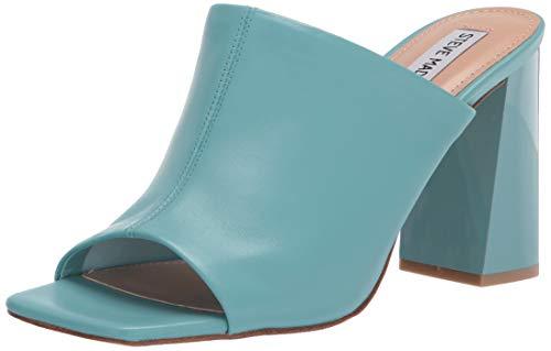 Steve Madden Women's Mule Heeled Sandal, Blue...