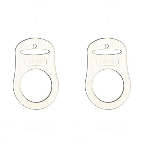 Anillo de silicona (adaptador) para chupete, sin BPA++, sin sustancias nocivas, para cadena de chupete de bebé (juego de 2)