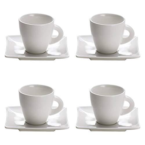 CreaFlor Home 4erSet Espressotasse mit Untertasse East Meets West 80ml weiß Maxwell & Williams