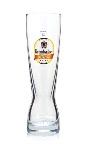 4 Stück Krombacher Weizen 0,5l Geniesser Glas Gläser