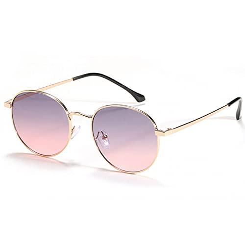LUOXUEFEI Gafas De Sol Gafas De Sol Redondas Mujer Hombre Gafas De Sol Pequeñas Negro Marrón Verano