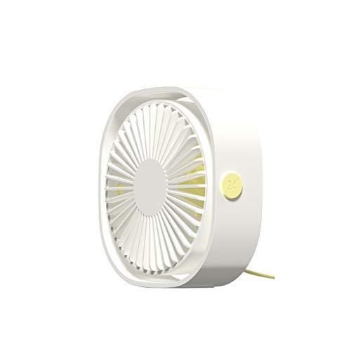 Mini-ventilator, USB-tafelventilator Draagbaar En Persoonlijk for Thuis En Op Kantoor Stil En Krachtig Cools You Down In Hot Summer (Color : White)