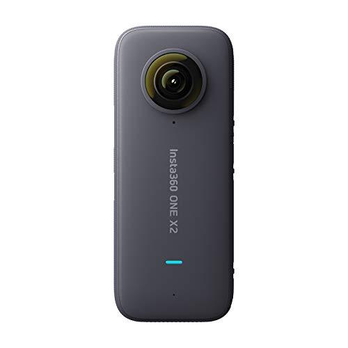 【正規代理店品】Insta360 ONE X2 アクションカメラ FlowState搭載 手ブレ補正 パノラマ 5.7K 30fps LCDタッチスクリーン 10m防水 HDR APP編集 360度カメラ 充電式1630mAhバッテリー付き バレットタイムに対応
