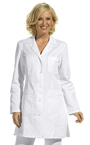 Damen Hosenkasack 1/1 Arm -weiß- mit 3 Taschen, waschbar bis 60°C (38)