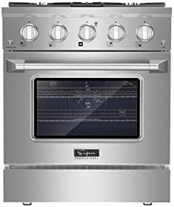 Empava 30 Inch Pro Style Slide In Single Oven Gas Range with 4 Sealed Ultra High Low Burners product image