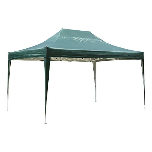 Outsunny Faltpavillon Faltzelt Partyzelt Gartenzelt Zelt Wasserdicht Stahl+Oxford Grün 4,5 x 3 x 3,2 m