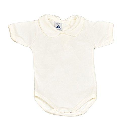 BABIDU 1192 Body Cuello Bebe Manga Corta Ropa de Bautizo, Blanco (Blanco 1), 98 (Tamaño del Fabricante:36) Unisex bebé