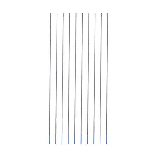 10pcs 1.0/1.6/2.4mm WL20 Electrodos de soldadura de tungsteno Electrodo lantanado Punta azul(1.6 * 175mm)
