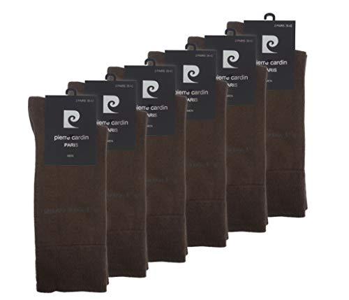 von Pierre Cardin Socks Business Socken Herrensocken 75% Baumwolle Stark Reduziert 6-18 Paar (43-46, 12 Paar Coffee Braun)