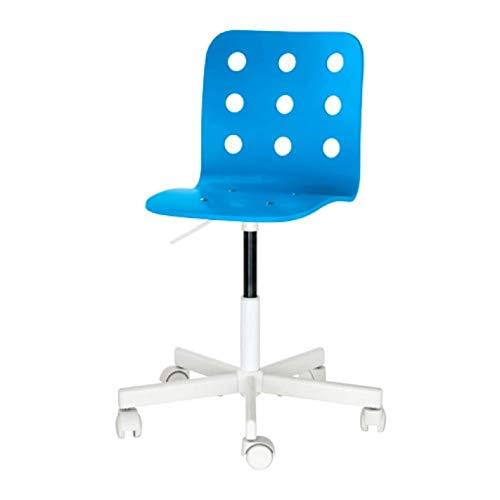 Ikea Jules 292.077.12 Schreibtischstuhl für Kinder, Blau / Weiß
