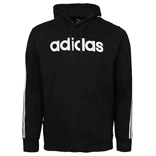 adidas Men's 3-Stripe Logo Hoodie, Black, XL
